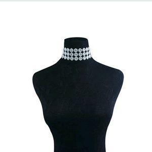 ♥Faux costume diamonds choker Halloween